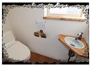 オリジナル手洗い付きのトイレ