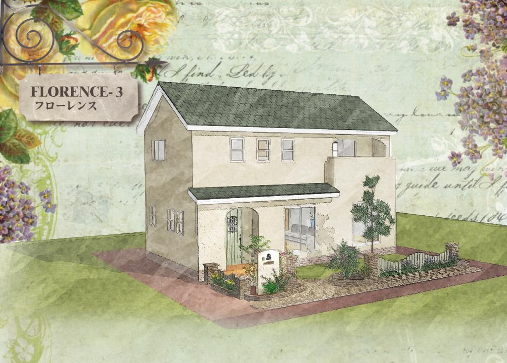 漆喰の塗り壁がかわいいローコスト住宅 フローレンス-3