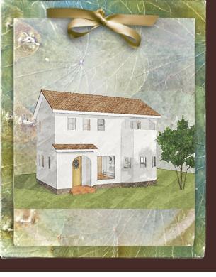 漆喰の塗り壁がかわいいローコスト住宅 フローレンス-2