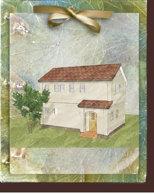 漆喰の塗り壁がかわいいローコスト住宅 フローレンス-6
