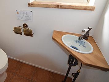 造作カウンター&オリジナル手洗いボウル-3