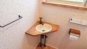 トイレには造作手洗い